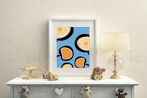 Nursery Frame mockup, Stock photo