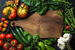 Fresh raw ingredients