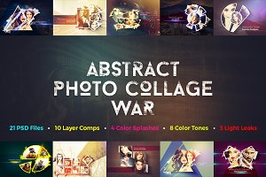 Abstract Photo Collage War