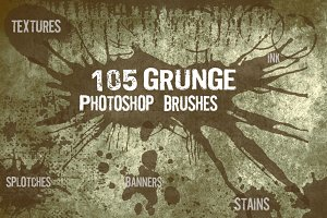 115 Grunge Photoshop Brushes