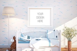 Nursery interior, Frame mockup