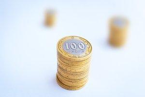 Kazakh money - hundred tenge