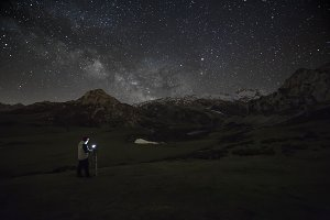 taking photos to milky way