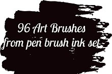 Art brushes 96 vector collection set