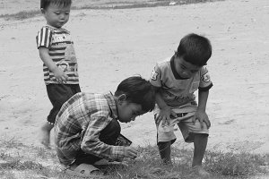Children playing - Cambodia