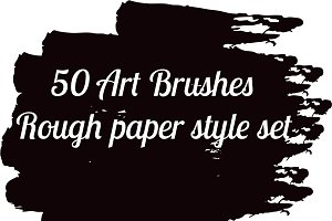 50 Art Brushes collection set vector