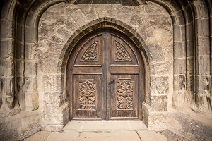 Church or castle door