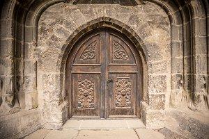 Church or castle door