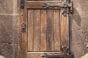 Ancient wooden door