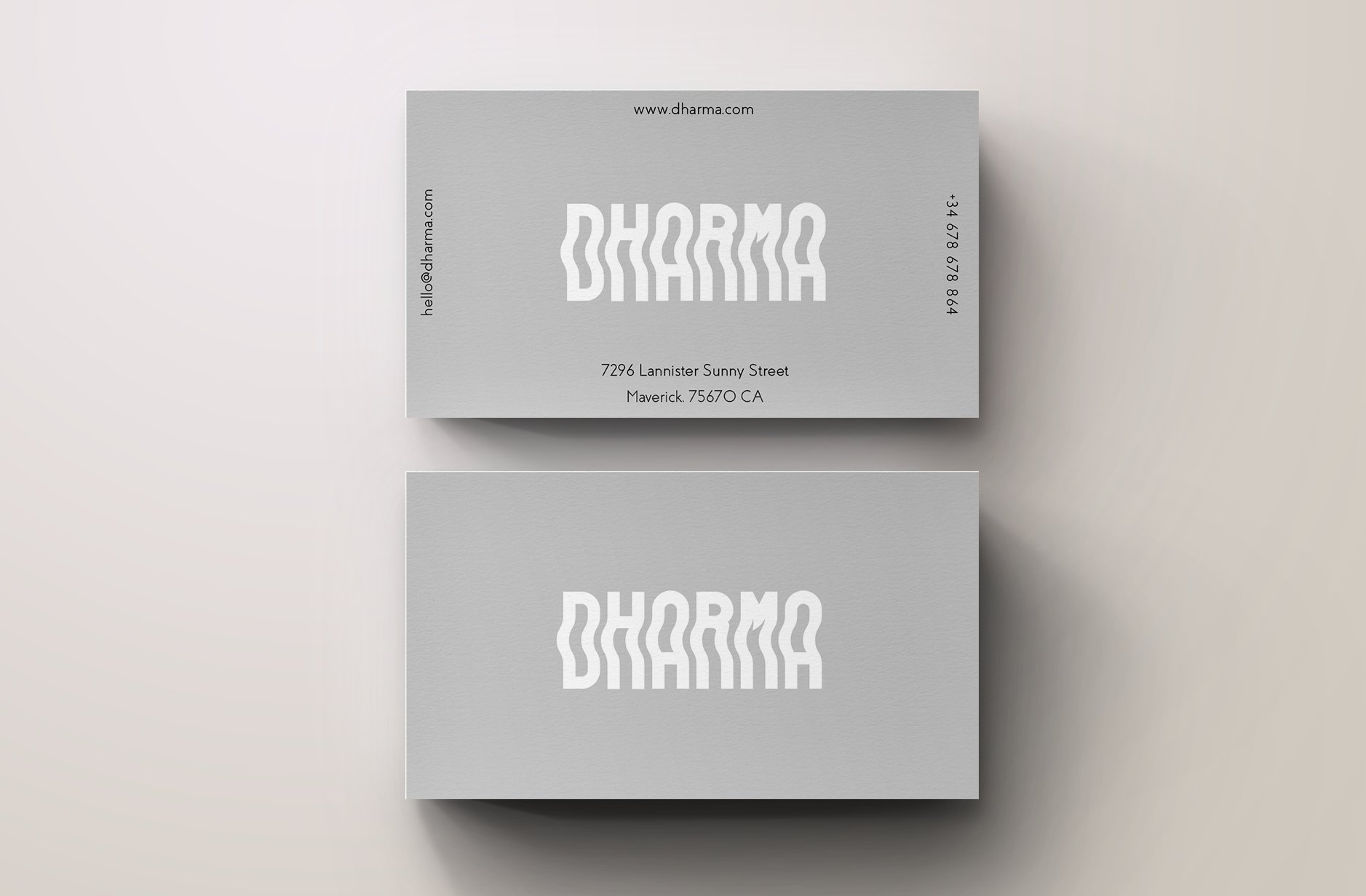 Dharma modern grey business card business card templates dharma modern grey business card business card templates creative market reheart Image collections