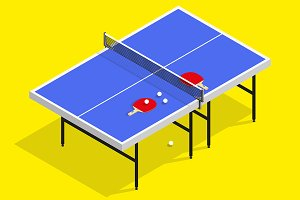 isometric ping pong table