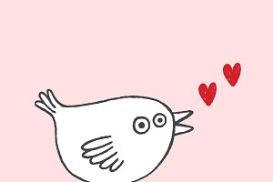 Bird and Love card
