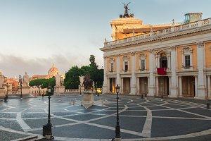 Campidoglio square in Rome, Italy