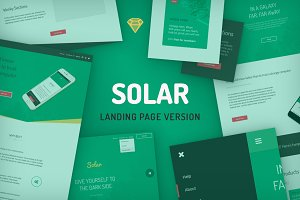 Solar [.sketch] for Landing Pages