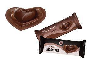 Chocolate Bar with Heart