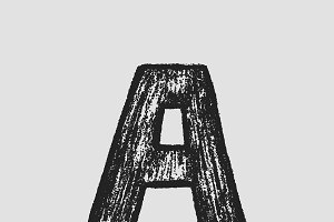 Hand drawn letter A