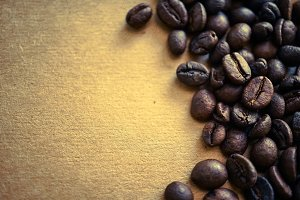 coffee beans on craft paper