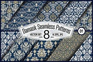 Seamless Damask Set #01