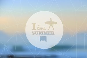 I love summer hipster background