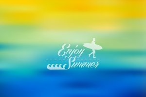 Enjoy Summer colorful background