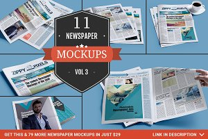 Newspaper Mockup PSDs Vol. 3