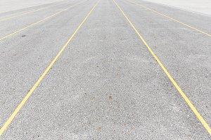 Concrete road texture