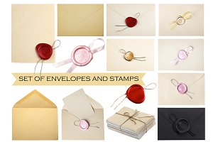 Old Envelopes and vintage wax seal