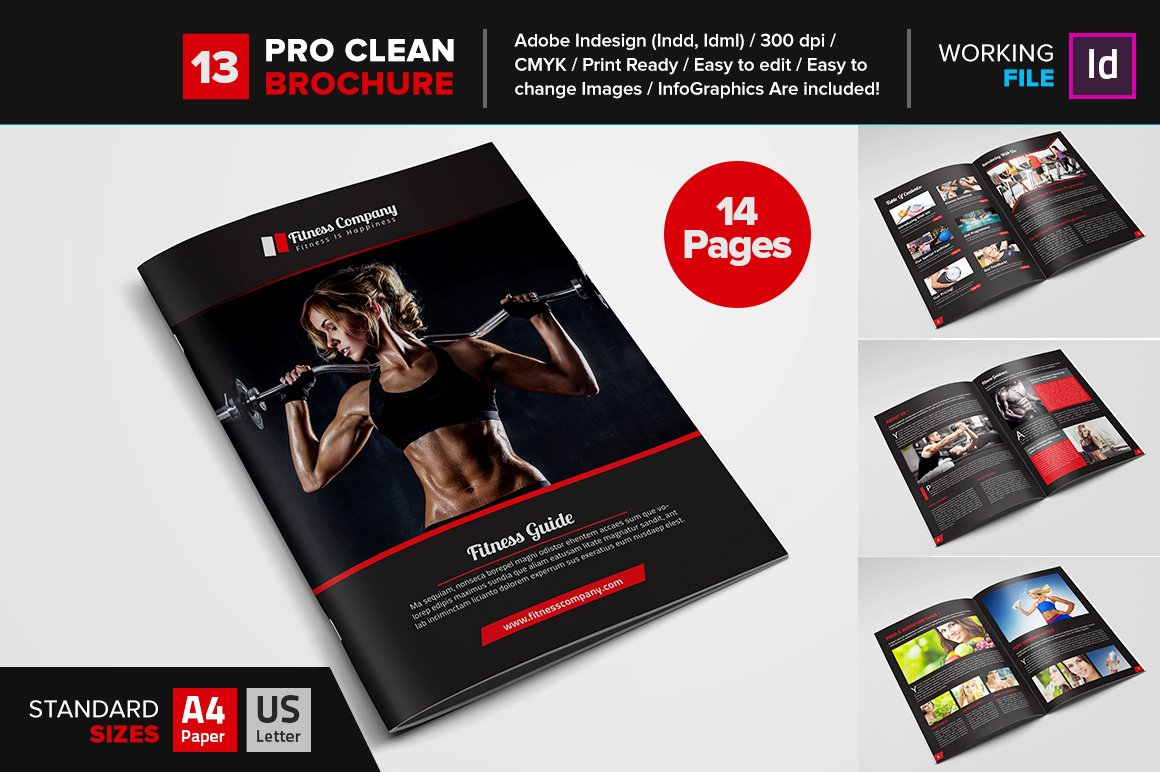 Gym brochure Photos Graphics Fonts Themes Templates Creative – Gym Brochure
