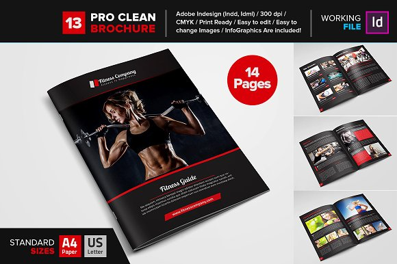 Fitness gym brochure template 13 brochure templates for Gym brochure template