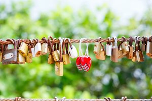 Rusty padlocks
