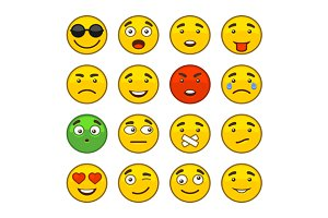 Set of Emoji Smile