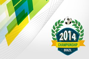Brazil 2014 champion badge backdrop