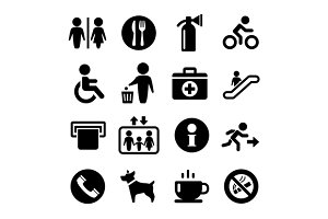 Service Signs icon set