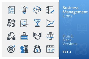 Business & Management Icons 4 | Blue