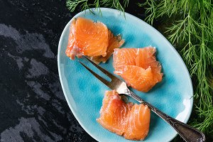salted salmon fillet