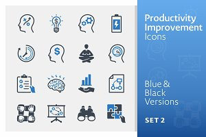 Productivity Improvement Icons 2