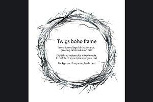 twigs boho frame