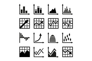 Business chart and graphics icons