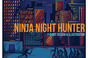 Ninja Night Hunter Illustration