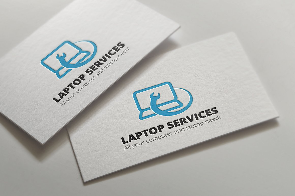Laptop repair services logo templates creative market magicingreecefo Images