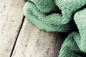 soap and towel