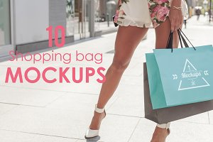 10 Shopping Bag Mockups