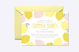 Pink Lemonade Invite Template