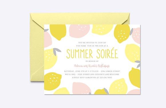 Pink Lemonade Invite Template in Card Templates