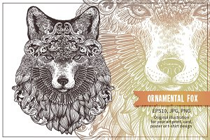 Ornamental Hand Drawn Fox