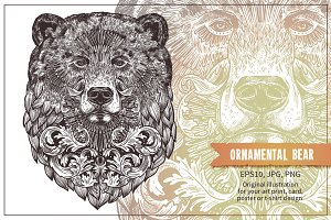 Ornamental Hand Drawn Bear