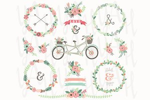 Wedding Floral Wreaths Bicycles