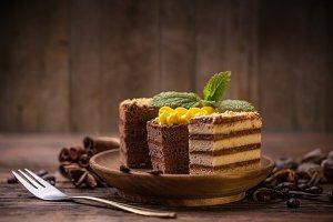 Various cake pieces