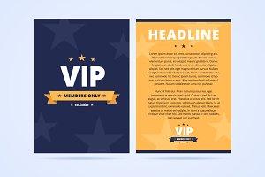 VIP club flyer