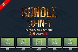Bundle 10 In 1 Powerpoint & Keynote